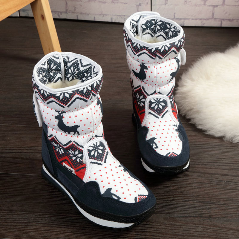 Women Shoes 2018 Women Winter Boots Snow Boots Female Warm Fur High Fashion Shoes
