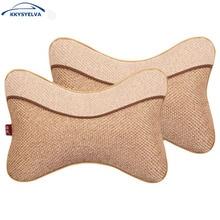 2017 Car Covers Silk Car neck Headrest  pillow mat Car auto seat head neck rest cushion headrest pillow pad car styling все цены