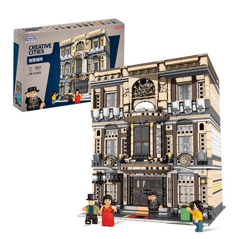 XingBao-01005-5052Pcs-Genuine-Creative-MOC-City-Series-The-Maritime-Museum-Set-Children-Building-Blocks-Bricks (1)
