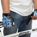 Ursfur muñeca guantes sin dedos de deportes al aire libre de medio dedo guantes de conducción sólida adulto combate motocycle del guante antideslizante