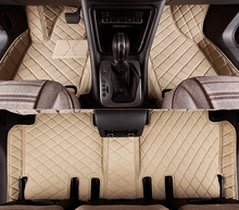 full covered wholy surrounded rugs special car floor mats for Mitsubishi Pajero 5seats Easy to clean carpets