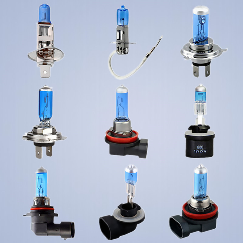 Super White Halogen Bulb H1 H3 H4 H7 H8 H11 9005 HB3 9006 HB4 880 881 12V 24V 27W / 35W / 55W 70W 100W 5000K  Car Headlight Lamp