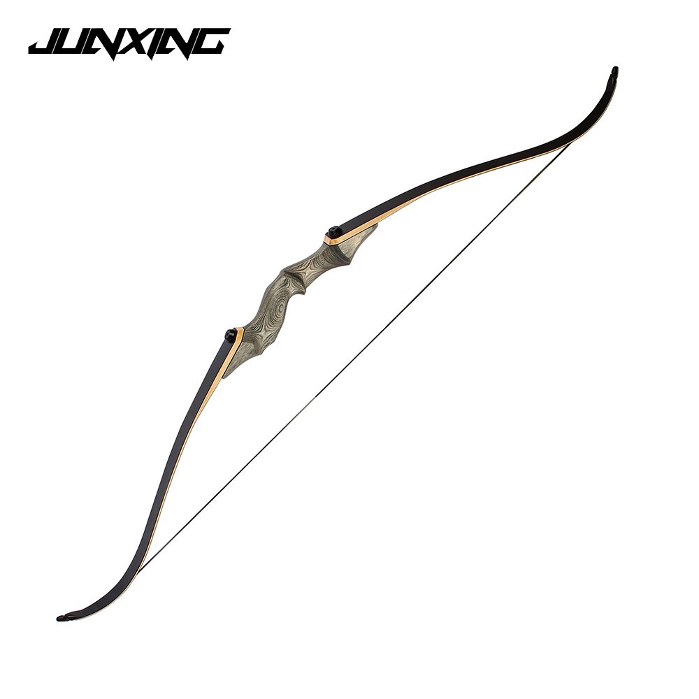 25-60 LBS  58 Inches Recurve Bow Wooden Riser For Left And Right Hand User Archery Hunting Shooting