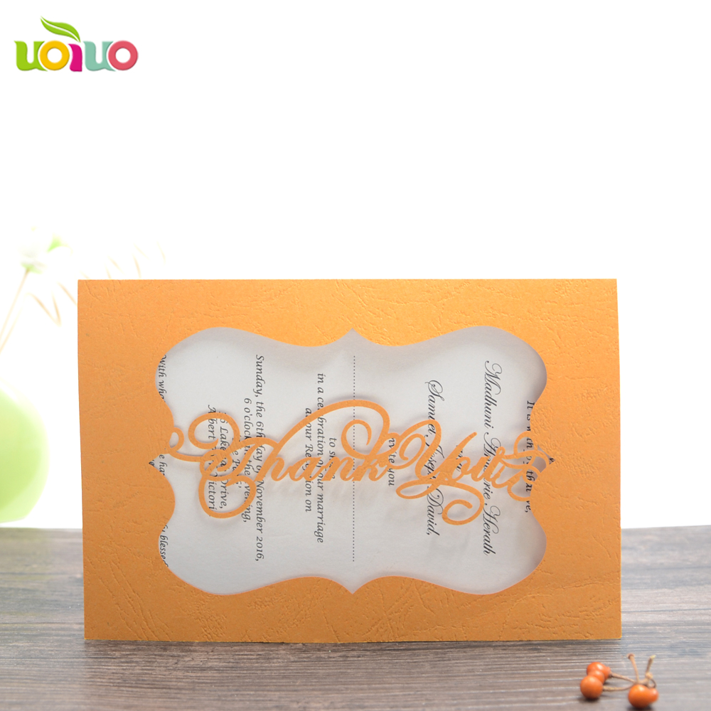 Simple Cheap Price Laser Cut Greeting Cards Invitation Cards With