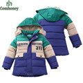 Winter Jacket For Boys Letter Pattern Cotton Down Sport Coat 3-10T Baby Boy Padded Jacket Outwear Hoodies Jacket Kids Clothing