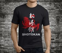 T-shirt Groothandel Crew Hals Mannen Korte Mouwen Compressie Nieuwe Populaire SHOTOKAN KARATE Martial Zwart T-Shirt Maat S-3XL T Shirts