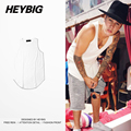 Bieber Clothing Longline Vest 2016 Hot Design Arc Hem Street Fashion Tank tops Heybig Clothing China sizing S-2XL