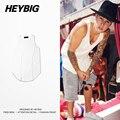 Bieber Roupas Espinhel Colete 2016 Hot Design Arc Hem Rua Tanque Da Moda tops Roupas Heybig China dimensionamento S-2XL