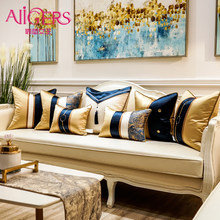 Avigers Luxury Patchwork Modern Cushion Covers with Tassels Throw Pillow Cases Home Decorative Pillowcases 45 x 45 50 x 50(China)