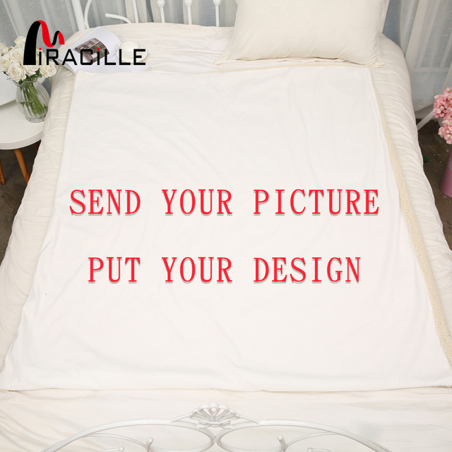 Us 18 97 42 Off Miracille Customized Throw Blanket Plush Personalized Blankets Print On Demand Sherpa Fleece Blanket For Beds Pod Drop Shipping In