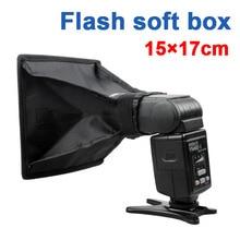 softbox 15cm*17cm Universal Foldable Flash Light Diffuser Softbox 10pcs for Canon Nikon pentax all DSLR CAMERA