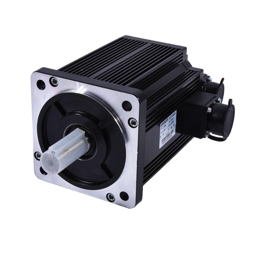 цена на 130ST-M10010 Three-phase Servo Motor 220V 1000W 4.5A 1000RPM AASD series AC servo motor