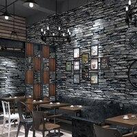 PVC Wallpaper 3D Embossed Brick Wallpaper Living Room Kitchen Hotel Restaurant Stone Wall Paper Rolls For Walls 3 D Home Decor