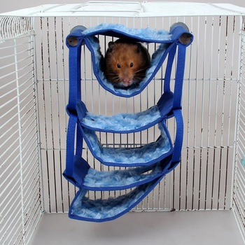 5 layers Hammock Pet Hamster Rat Parrot Ferret Hamster Hanging Bed Cushion hamster House Cage accessories for hamsters
