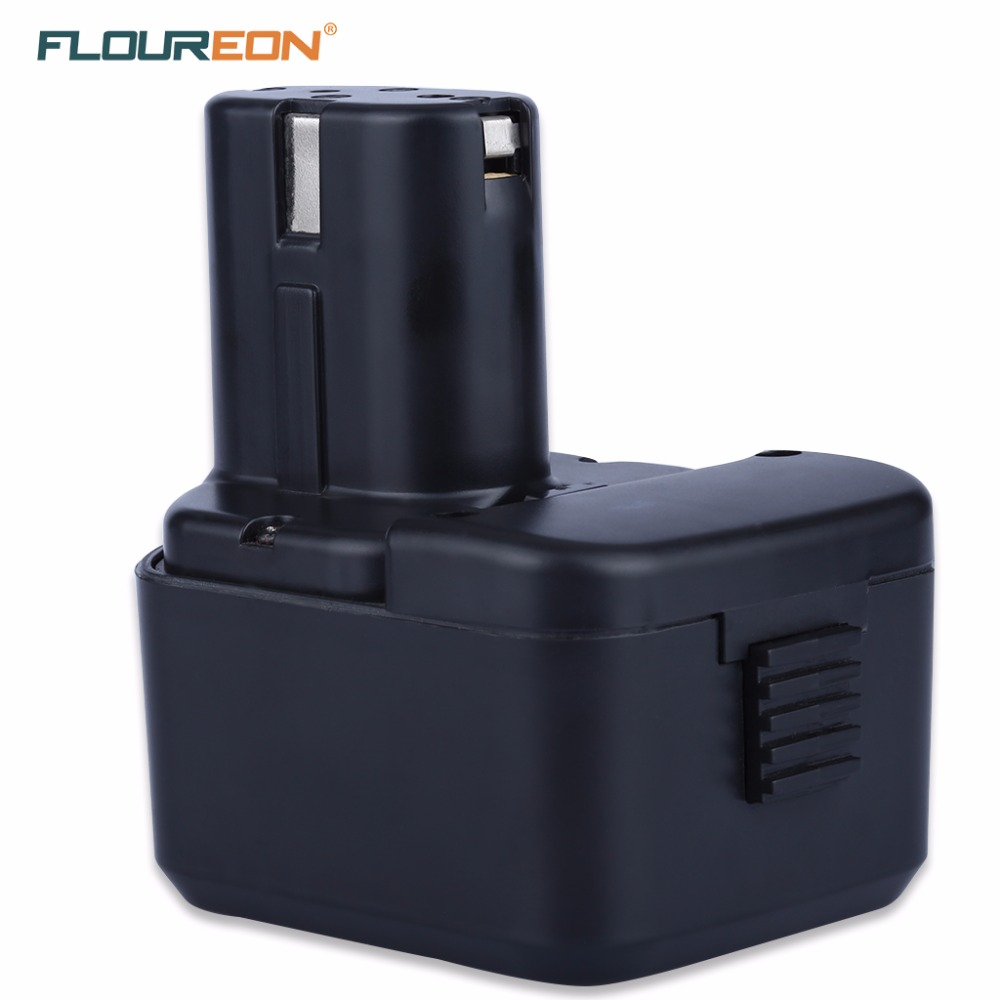 Floureon 12V 3.0Ah Battery For HITACHI 3000mAh NI-MH Power Tool Replacement Battery HIT for EB1212S EB1214L EB1214S EB1220BL for hitachi 12v 3 0ah ni mh eb1214s ds12dvf3 batteries rechargeable power tool battery for eb1212s eb1214s eb1214l eb1220bl