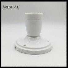 Vintage ceramiczne sufit wstał zestaw przewodów do lamp kolorowe e27 e26 ceramiczny uchwyt lampy z sufit wstał