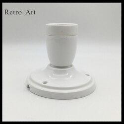 Vintage ceramiczne sufit wstał zestaw przewodów do lamp kolorowe e27 e26 ceramiczny uchwyt lampy z sufit wstał w Wiszące lampki od Lampy i oświetlenie na