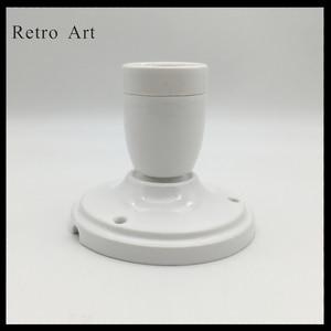 Image 1 - בציר קרמיקה תקרת עלה מנורת כבל סט צבעוני e27 e26 קרמיקה מנורת בעל עם תקרת עלה
