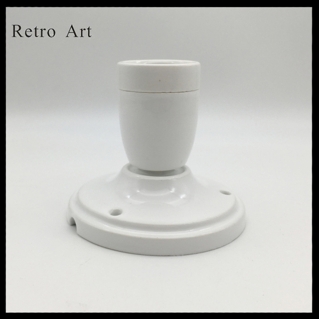 בציר קרמיקה תקרת עלה מנורת כבל סט צבעוני e27 e26 קרמיקה מנורת בעל עם תקרת עלה