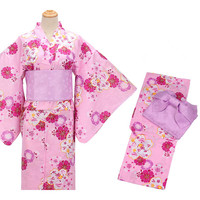 Women's Traditional Clothing Classic Beautiful Floral Prints Japan Kimono/Yukata Cosplay Clothing 6pcs/Set Geta Included