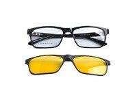 Deding 2017 gepolariseerde recept frames branded magnetische clip op w/tr90 monturen mannen bril zonnebril dd1428
