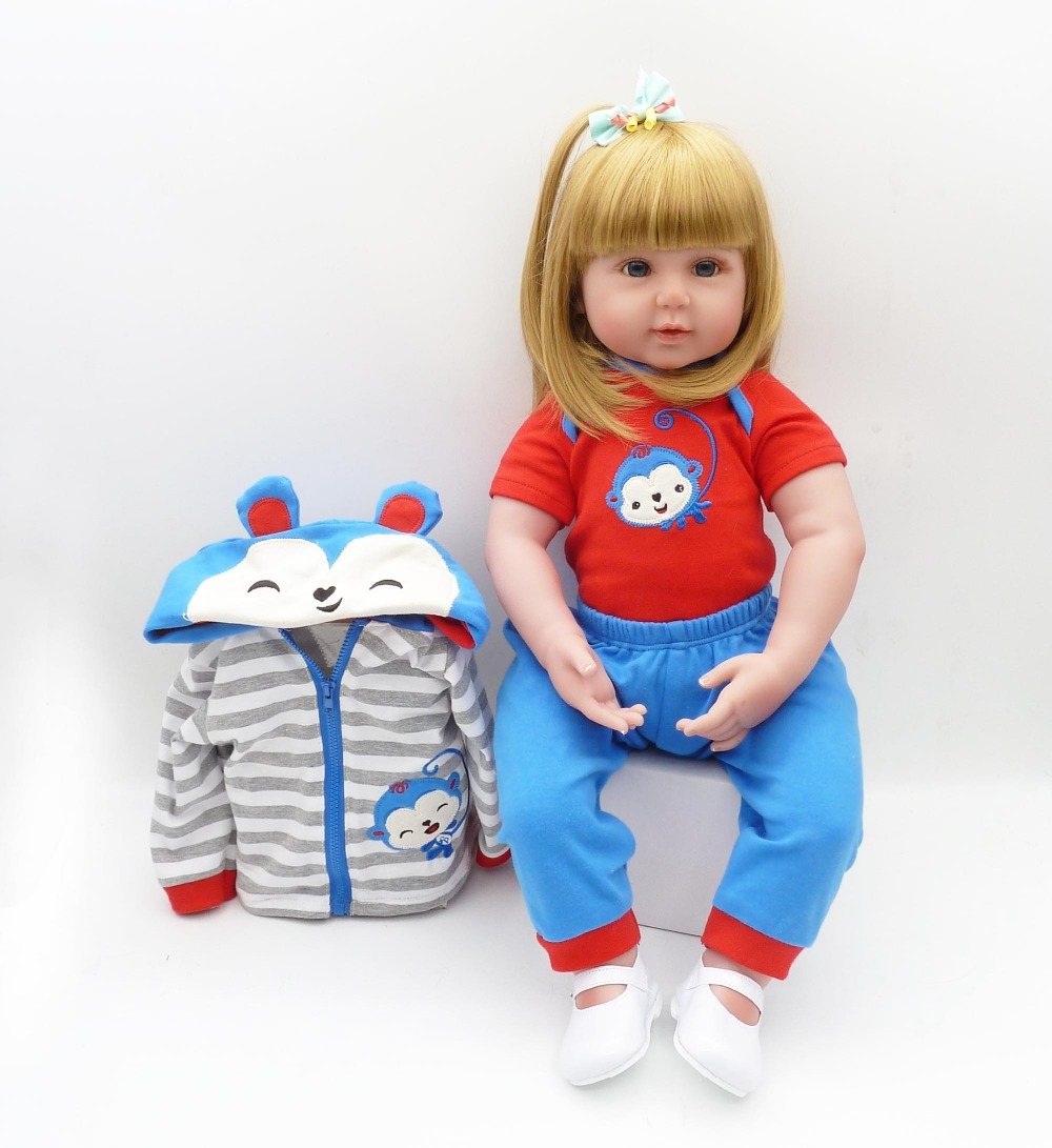 2358cm Reborn silicone babies newborn dolls  vivid collectible real looking girl toddlers dolls kids lovely birthday gift2358cm Reborn silicone babies newborn dolls  vivid collectible real looking girl toddlers dolls kids lovely birthday gift