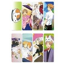 8pcs Cartoon Comic Natsume Yuujinchou Anime Bookmarks Waterproof Transparent PVC Plastic Colorful Bookmakers Gifts For Kids pvc cartoon comic doll