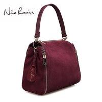 New arrival Women Suede Leather Handbag Bucket Fashion Lady Shoulder bag Messenger Top handle bags For Lady