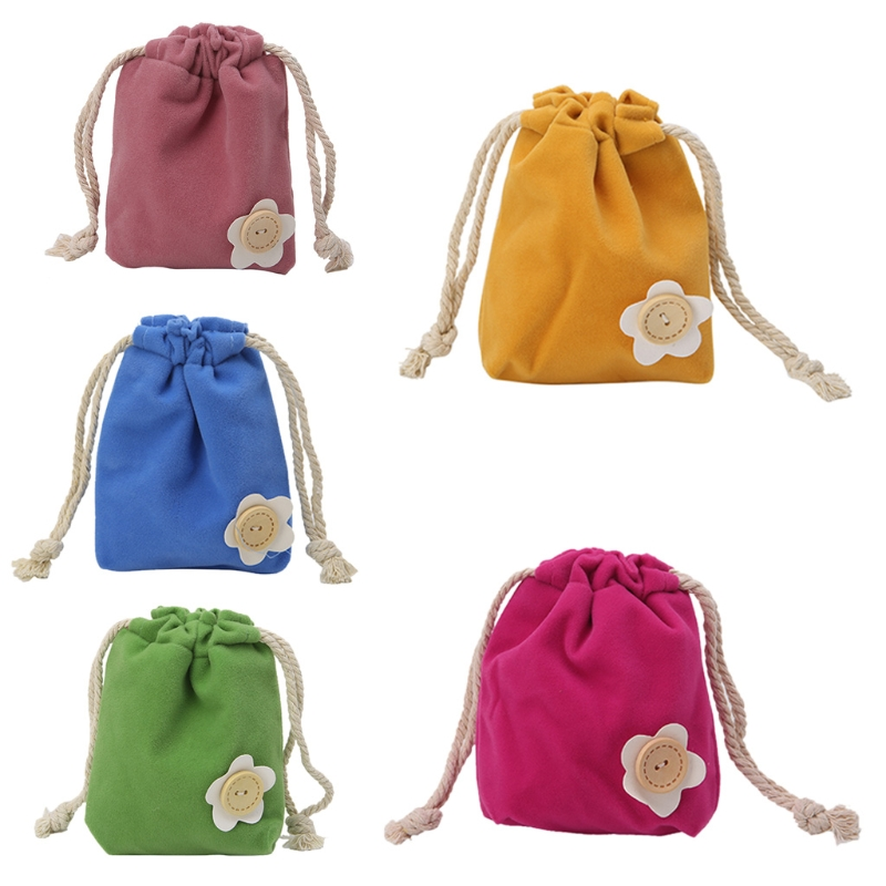 Fadish New Christmas Candy Bags Jewelry Pouch Purse Coin Case Gift Small Drawstring Bag