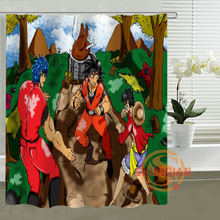 Anime one piece Naruto dragon ball Shower Curtain Personalized Custom Bath curtain Waterproof polyester curtain for family