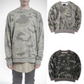 2016 SWAG Vintage Fashion Camo Sweatshirt Men Oversize Drop Shoulder Loose Cotton Hoodie Water Washed Camouflage Tracksuit M-XL