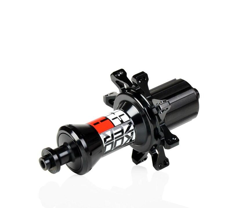 KOOZER RS330 moyeux aluminium 2 + 4 roulement 72HD avant arrière 20/24 moyeu ensemble vélo de course route moyeu avant moyeu arrière droit tirer noir/rouge - 2