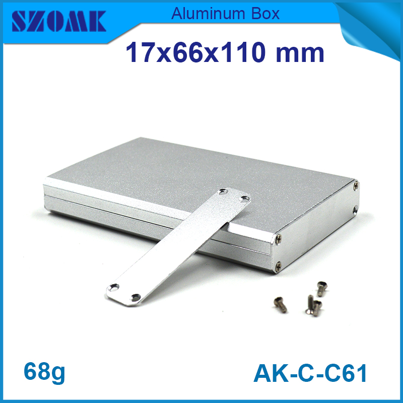 1 piece free shipping small aluminium project box enclosures for electronics case housing 12.2x63mm free shipping 1piece lot top quality 100% aluminium material waterproof ip67 standard aluminium electric box 188 120 78mm