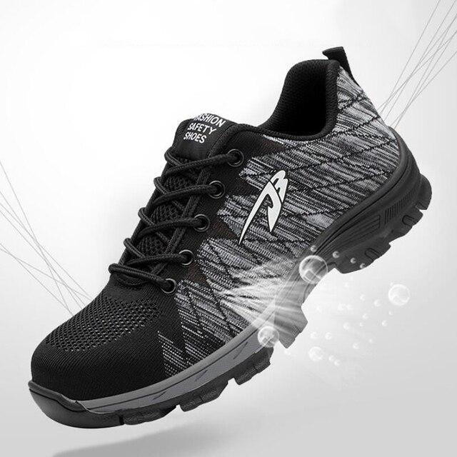 Hommes et femmes bottes de sécurité en plein air respirant hommes chaussures en acier orteil anti crevaison travailleurs baskets