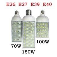 E26 e27 e39 e40 에너지 절약 높은 전원 옥수수 전구 알루미늄 램프 70 w 100 w 150 w led 거리 스포트 라이트 110 v 220 v lampada 조명