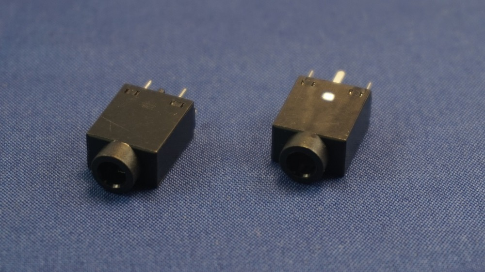 10pcs Vertical Phone Jack 3.5mm 5 pin stereo audio socket for 3 poles earphone plug through hole DC30V 0.5A