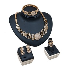 New Romantic jewelry set for wedding decoration with necklace ring bracelet and earring for famme fashion free shipping