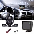 DC 6V-32V 4.3 Inch TFT Sunshade LCD Monitor Car Reversing Parking Camera DVD VCR Rear View Kit