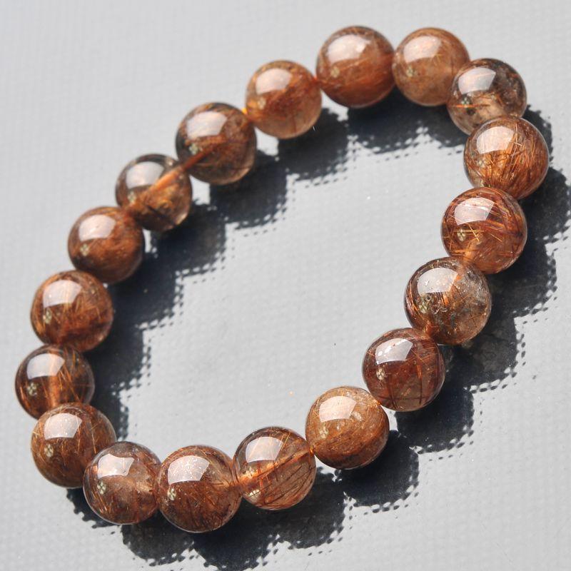 Joursneige blonde naturelle titanium cristal bracelets perles bijoux accessoires de cuivre rutile femmes hommes bracelets