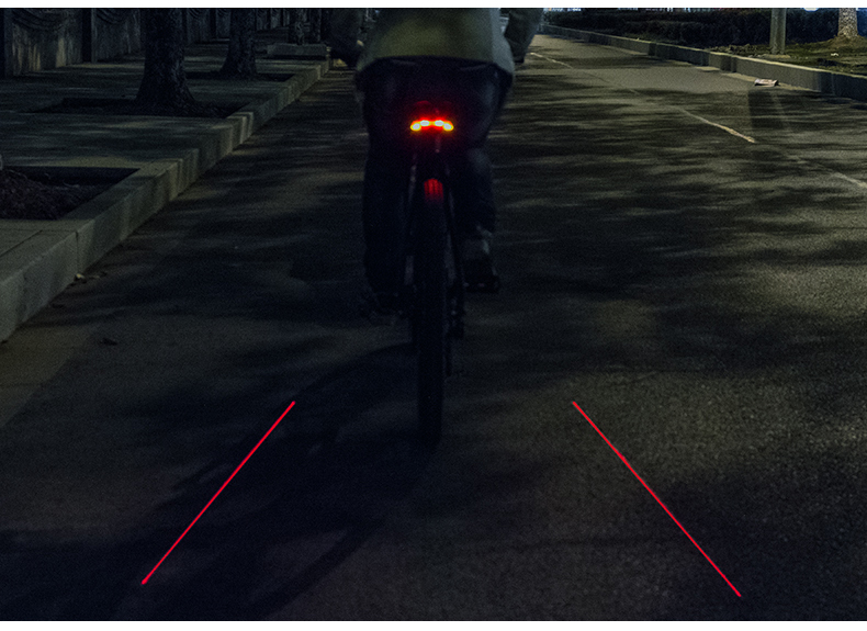 LED Seatpost, Tail Light Wireless  Safety Warning, Bike Waterproof Intelligent, Remote Control Rear, Lamp 29