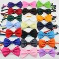 Nuevos 2016 niños barato sólido pajarita niños mariposa corbata baby & kids accesorios 21 colores