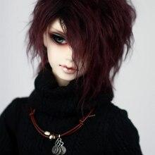BJD кукла plushwig соус фиолетовый черный короткие кудрявые парики из натуральных волос для 1/3 1/4 1/6 BJD DD SD MDD MSD YOSD дядя кукла мех парики