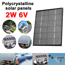 BCMaster Solar Panel Solar Cells Durable Environmental Polycrystalline Silicon 2W 6V Powered Home Improvement Phone Charger