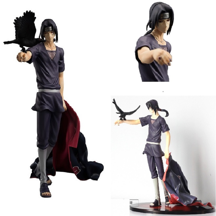 NARUTO Uchiha Itachi Akatsuki Shippuden Figurza Resin Figurine Anime Naruto Action Figure With Base in box Collectible Model toy купить