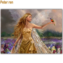 Diy diamond painting cross-stitch 5d Diamond embroidery Animals and Angels picture rhinestones mosaic Paste full canvas 50*40cm naiyue j626 2 two angels print draw 5d diamond painting diamond embroidery