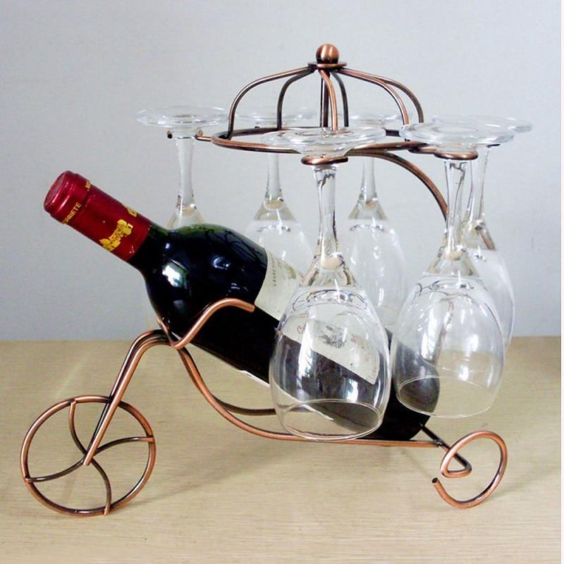 Buy wine rack decorative hanging wine for Decorative wine glasses cheap