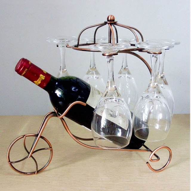 Wine Rack Decorative Hanging Wine Glass Holder Bottle Shelf Upside