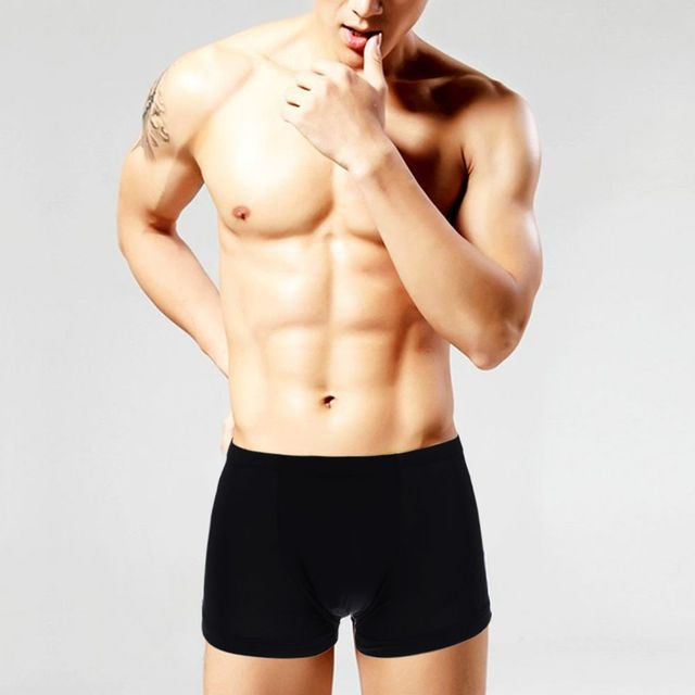 76673988912026 1 PC Spring Summer Fashion Men's Breathable Boxer Bulge Pouch Ice Silk  Trunks Soft Comfortable Underwear Seamless Underpants