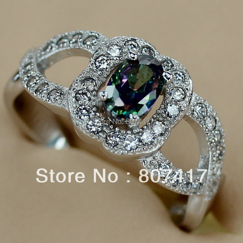 SHUNXUNZE fashion rings Jewelry & Accessories for women 2018 aliexpress Rainbow Cubic Zirconia Rhodium Plated R3145 size 6 7 8 9