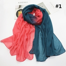 LARRIVED Cotton Shawl Rainbow Scarf For Women Wrap Hijab Lot Cape Female Scarves Big Winter Sciarpa And Stoles Scarfs Ladies